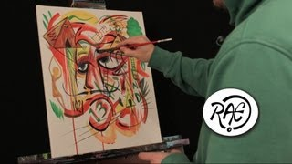 END OF DAYS Time Lapse SPEED ART Acrylic Painting by RAEART