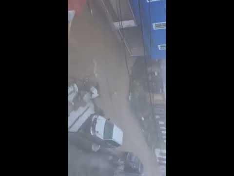 Hurricane Irma inondations catastrophiques St Thomas, Charlotte Amalie, Îles Vierges E.U. 06 09 2017