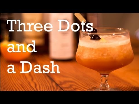 Three Dots And A Dash Tiki Cocktail From Better Cocktails At Home