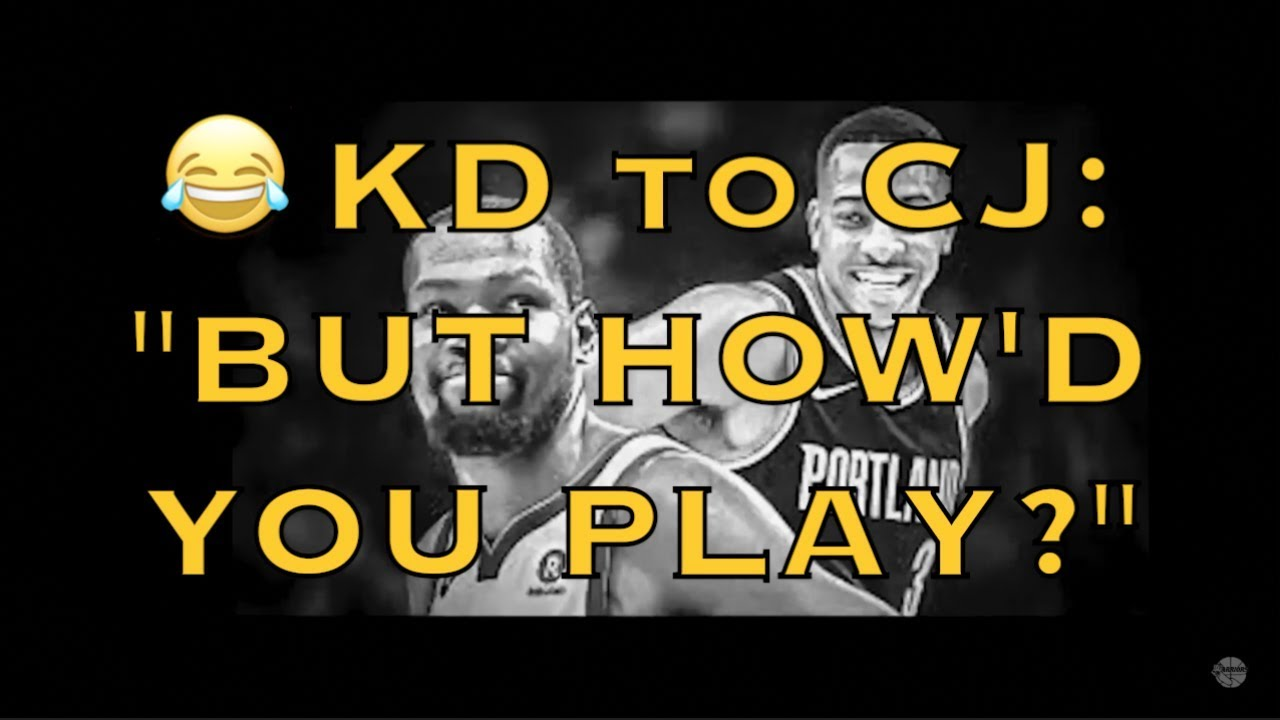The back-and-forth between Kevin Durant and CJ McCollum is non-stop, and hilarious