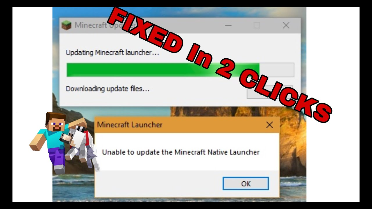The Easiest Way To Fix Unable To Update Minecraft Native Launcher