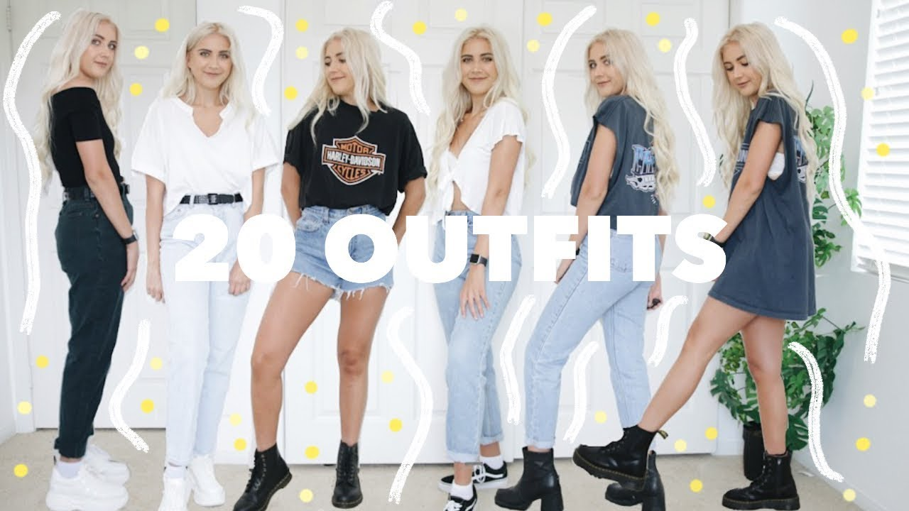 20 SUMMER OUTFITS | thrifted summer style outfit ideas 2