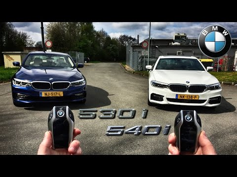 BMW 5 Series REVIEW 530i vs 540i POV Test Drive on AUTOBAHN by AutoTopNL