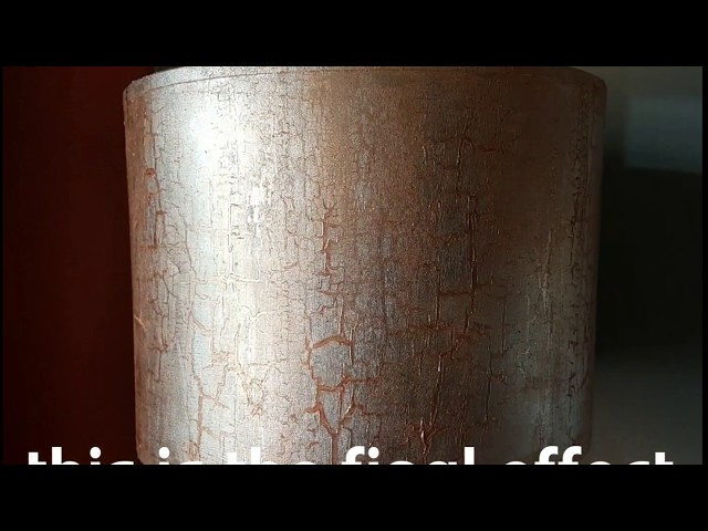 Shimmering gold leaf lampshade with a crackle finish