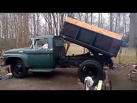 Flatbed Truck For Sale >> 1966 Ford f600 Dump Truck - YouTube