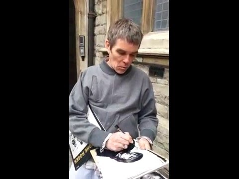 Ian brown signing autographs talks stone roses 3rd album grimsby