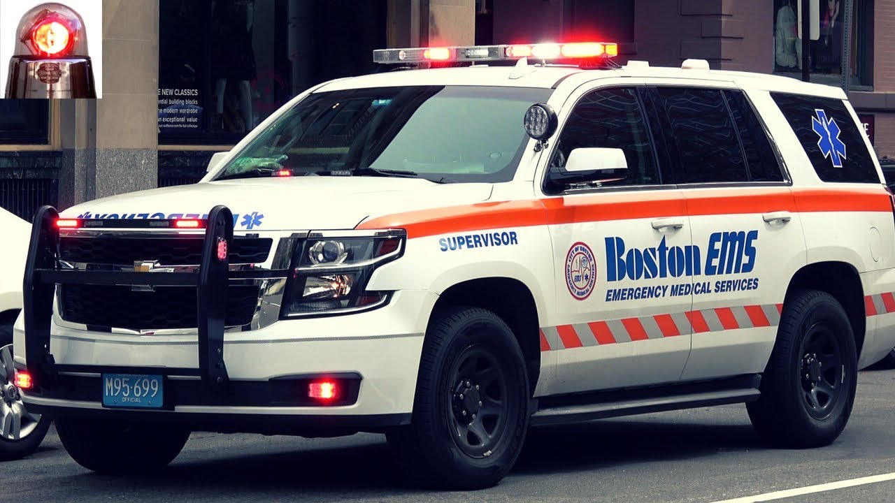 Boston EMS Ambulance + New Chevy Tahoe Supervisor on Scene ...