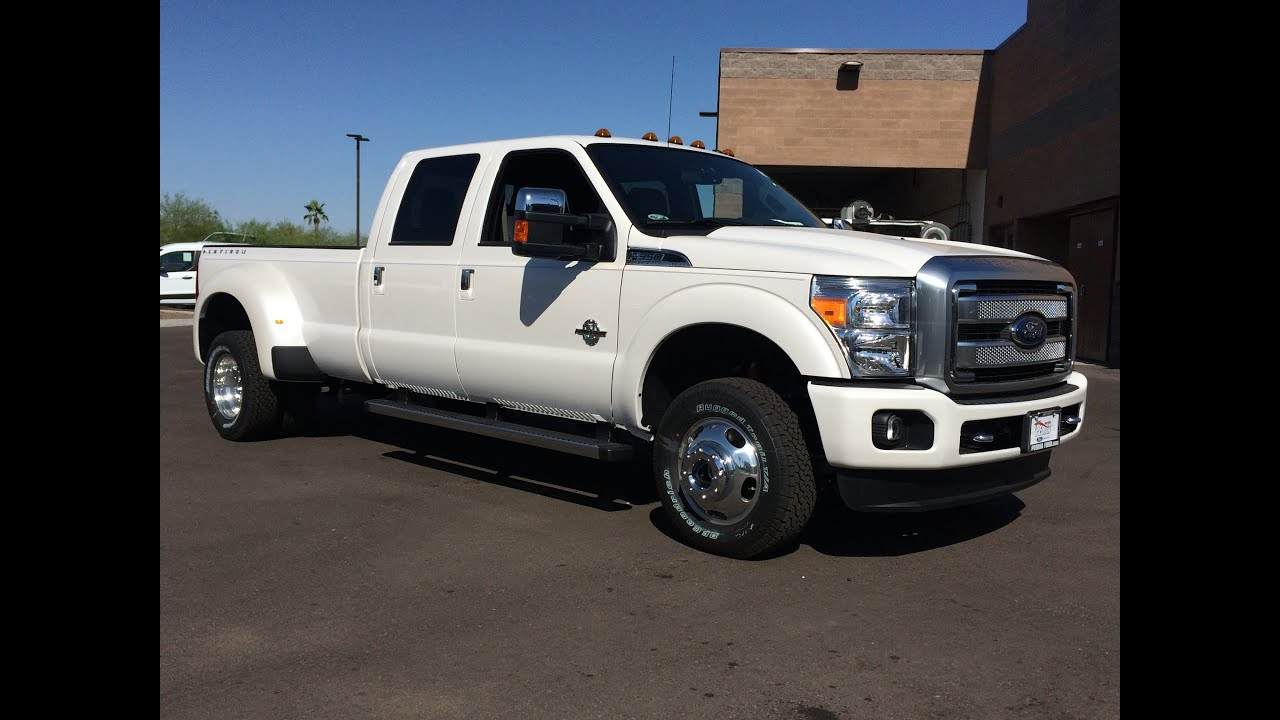 2015 ford f 350 platinum 4x4 dually walkaround youtube