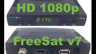unboxing FreeSat v7 / SAT-HD / 1080p / Cccam / WiFi