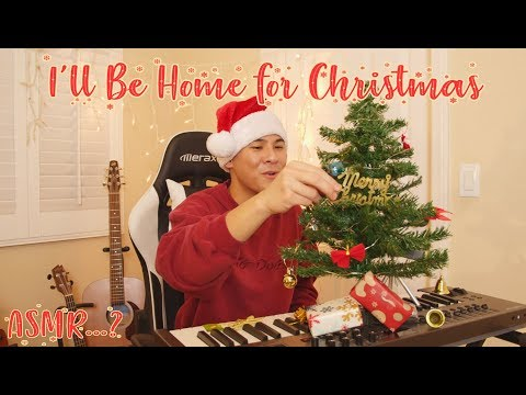 Decorating a Mini Christmas Tree While Singing