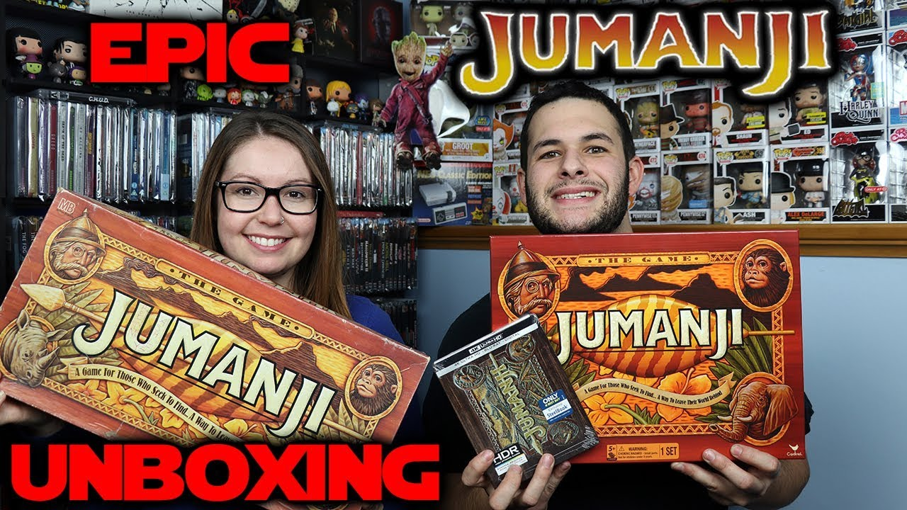 Epic Jumanji Unboxing Original New Board Games 4k Steelbook