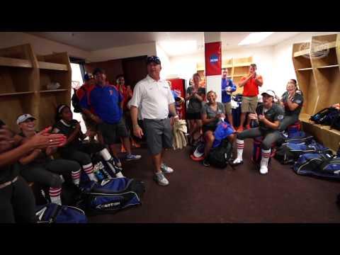 Florida Softball: WCWS Postgame Locker Room 5-29-15