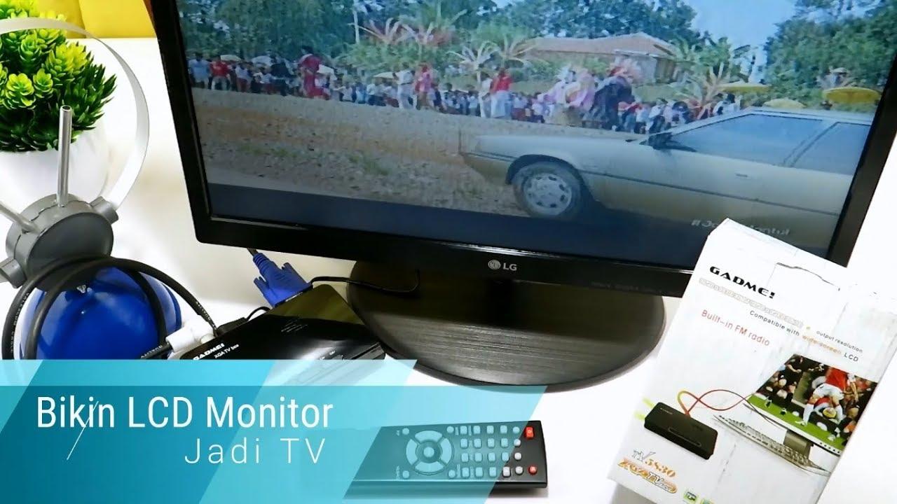 Cara Bikin Lcd Monitor Jadi Tv Unboxing Tv Tuner Gadmei 5830 Youtube