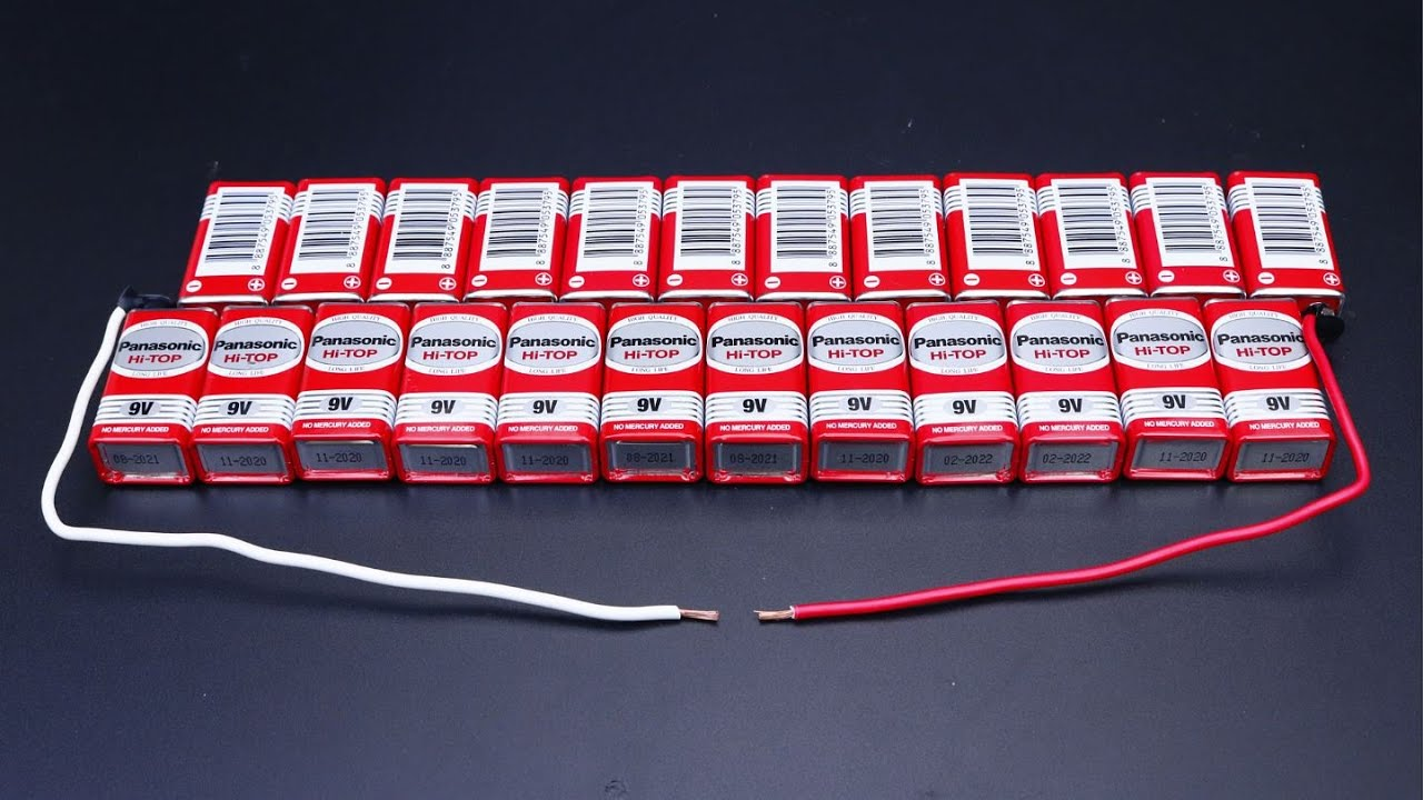 EXPERIMENT - How to Make 220V Battery with 9V battery