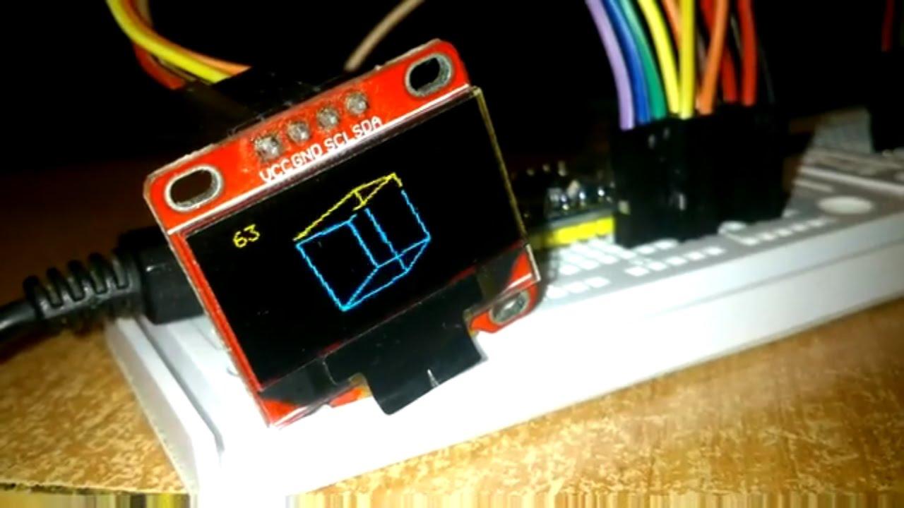 STM32 Arduino IDE & OLED I2C 3D Cube