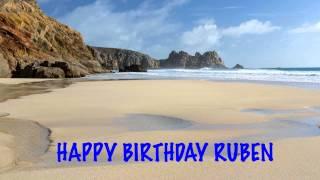 Ruben    english pronunciation   Beaches Playas - Happy Birthday