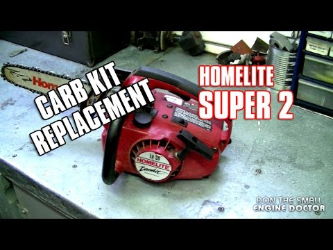 Carburetor Kit Replacement On Homelite Super 2 Chainsaw