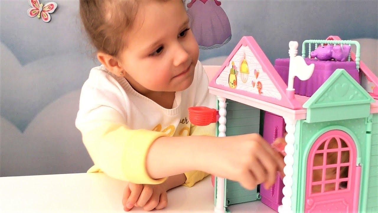 Клуб Барби кукла Челси в доме мечты Видео для детей с ...