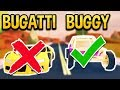 THE DUNE BUGGY IS FASTER THAN THE BUGATTI!? UPGRADED DUNE BUGGY VS BUGATTI (ROBLOX JAILBREAK)