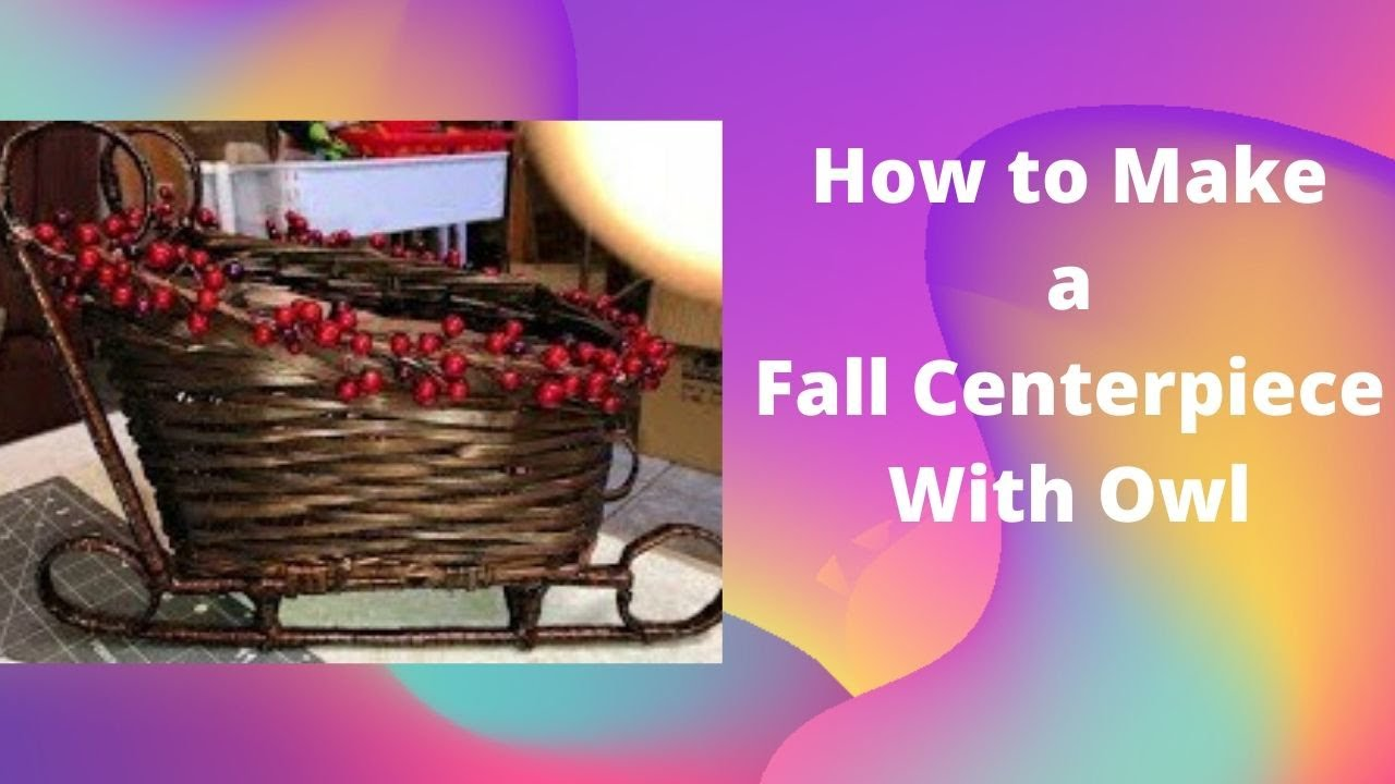 How To Make a Fall Centerpiece with Creative Wreaths and Flowers