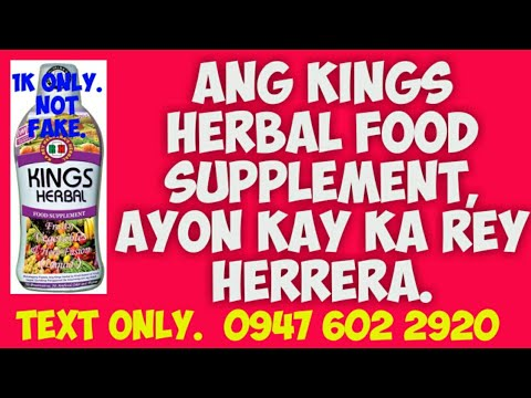 Ang Kings Herbal Food Supplement.