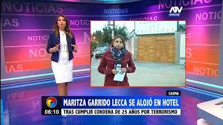Casma: Maritza Garrido Lecca se alojó en un hotel tras salir de prisión