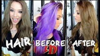 How I Went From Purple/Blonde to Brown Hair!