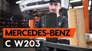 Come sostituire filtro olio motore e olio motore su MERCEDES-BENZ С W203 [TUTORIAL AUTODOC]