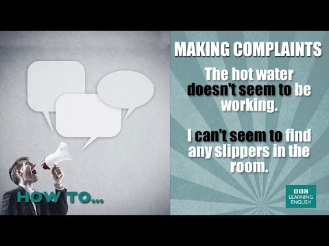 How to make complaints