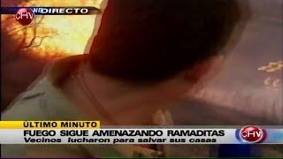 Iván Núñez estuvo a punto de ser alcanzado por las llamas - CHV Noticias