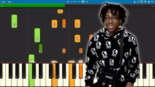 Lil Tecca - Amigo - Piano Tutorial