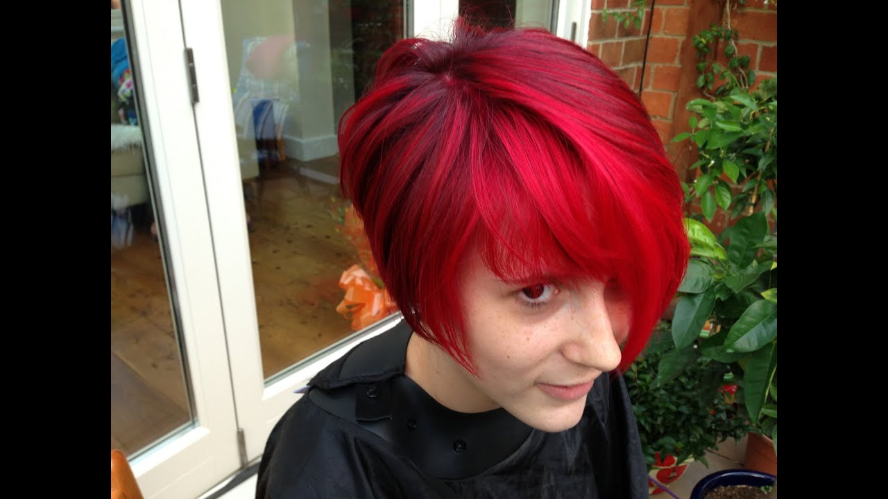The Best Red Hair Colour A Vibrant Cherry Red Colour Refresh Youtube