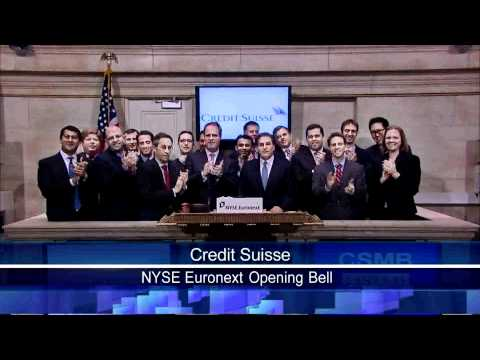 23 March 2011 Credit Suisse rang the NYSE Opening Bell