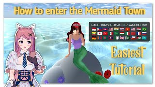 How to enter tнe new MERMAID TOWN | SAKURA SCHOOL SIMULATOR | Version 1.038.14