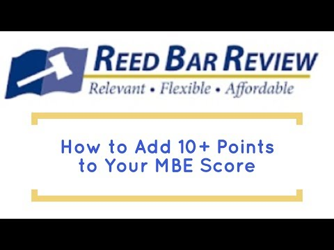 How to Add 10+ Points on Your Multistate Bar Exam (MBE) - YouTube