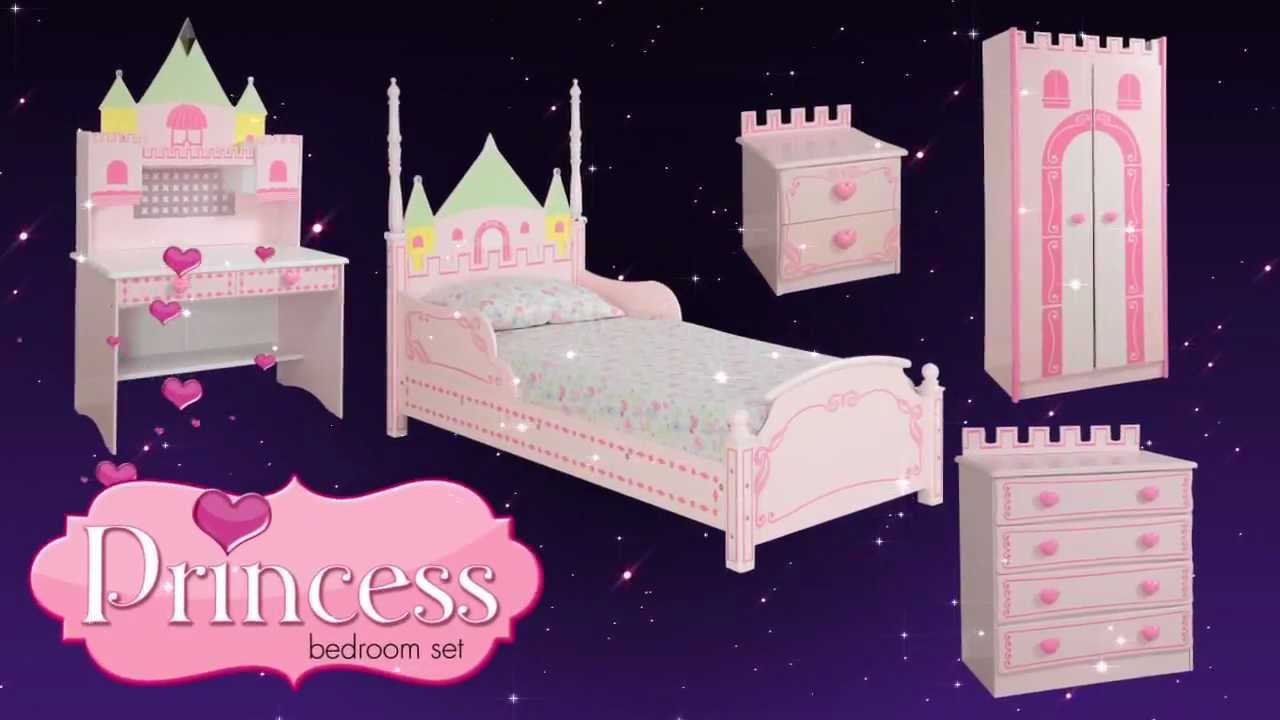 Pretty princess high sleeper playhouse bed - Princess Castle Theme Bed Bedroom Furniture For Kids Children From Little Devils Direct Youtube