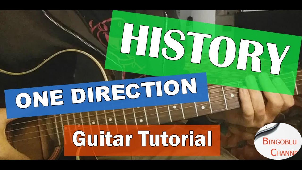 History One Direction Guitar Tutorial How To Play Chords Youtube