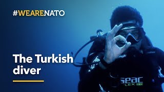 Life beneath the waves. The Turkish diver - #WeAreNATO