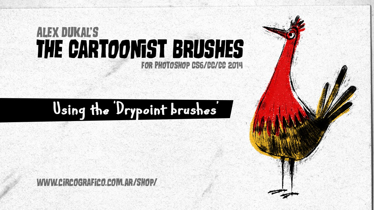 Alex Dukal - Dry Point Brushes (for Photoshop)