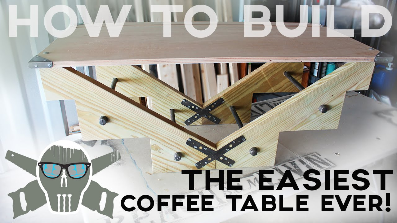 How To Build The EASIEST Coffee Table Ever In Less Than 1 HOUR