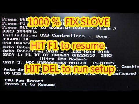 How To Fix Strike The F1 Key To Continue F2 To Run The Setup Utility Error 100 Youtube
