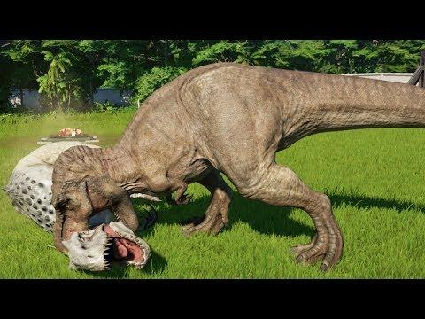 T-REX MAX Vs ALL CARNIVORE DINOSAURS - Jurassic World Evolution