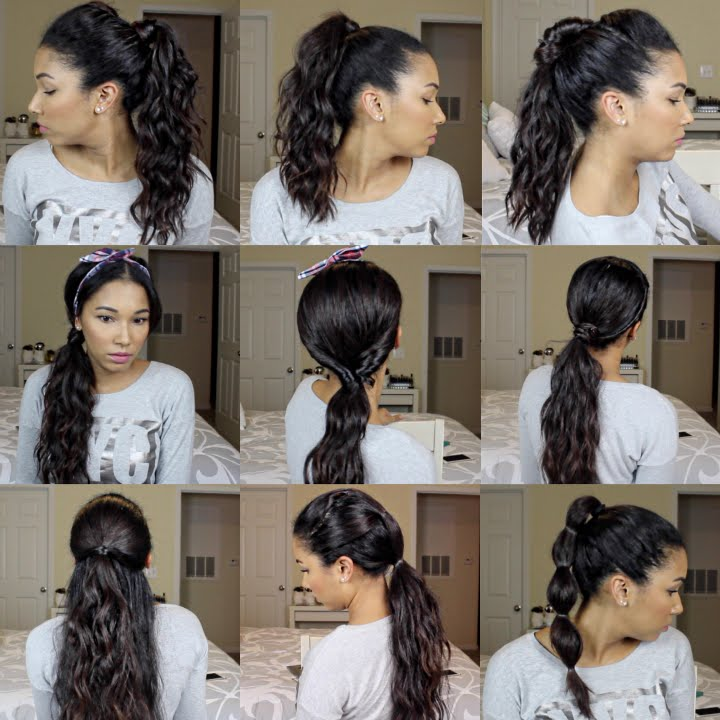10 Easy Ponytail Hairstyles Youtube