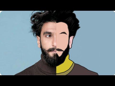 Tutorial Vector portrait //cartoon effect using Adobe illustrator draw on smartphone   i SNAP