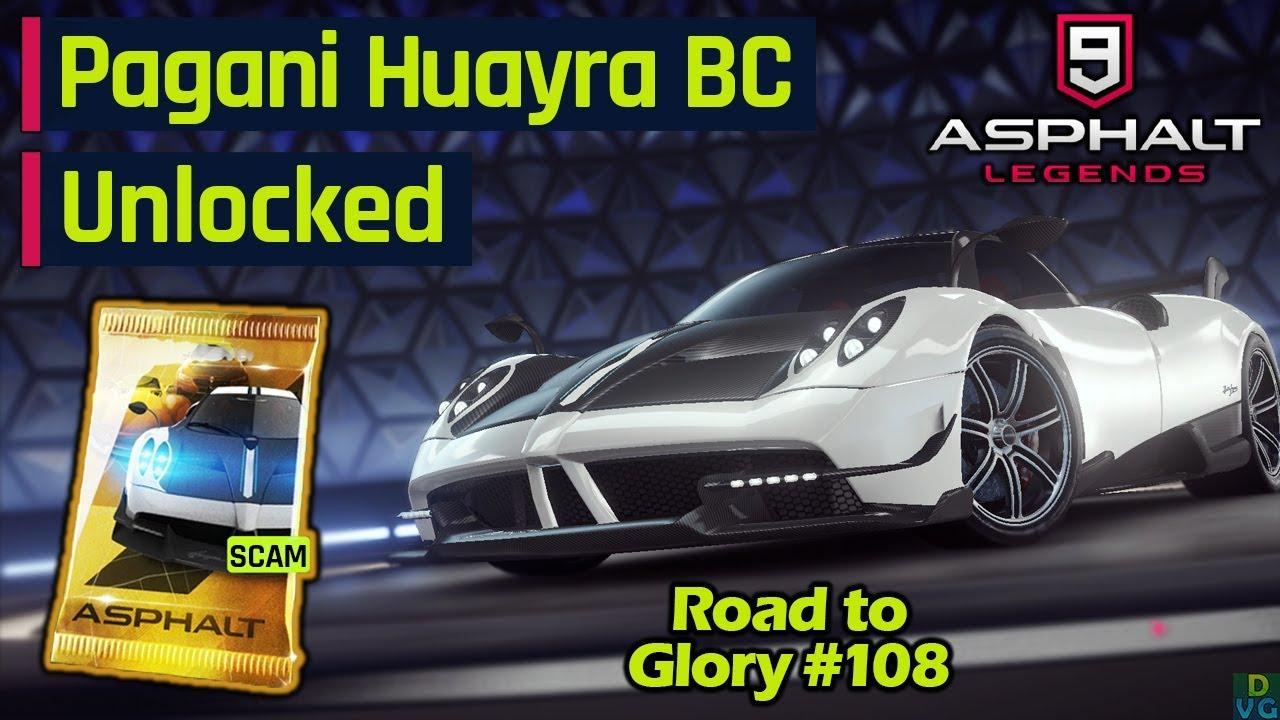 asphalt 9 - f2p rtg #108 | pagani huayra bc unlocked - youtube
