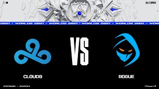 C9 vs. RGE   Woŗlds Group Stage Day 4   Cloud9 vs. Rogue (2021)