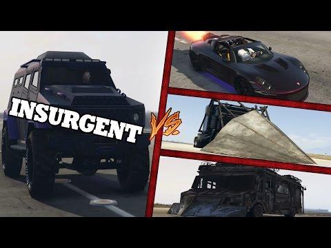 GTA 5 INSURGENT - VS - ROCKET VOLTIC - PHANTOM - BOXVILLE [ CRASH TEST ]