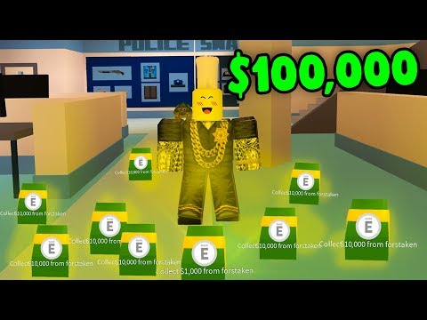 DROPPING $10,000 EVERY 5 MINUTES! (Roblox Jailbreak)
