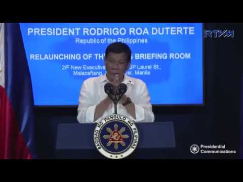"""Pres. Duterte: PDEA is now the sole authority of the """"War on Drugs Campaign"""""""