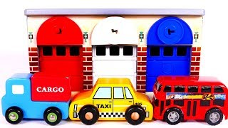 Learn Colors with Garage Playset Toy Vehicles for Kids and Yippee Toys